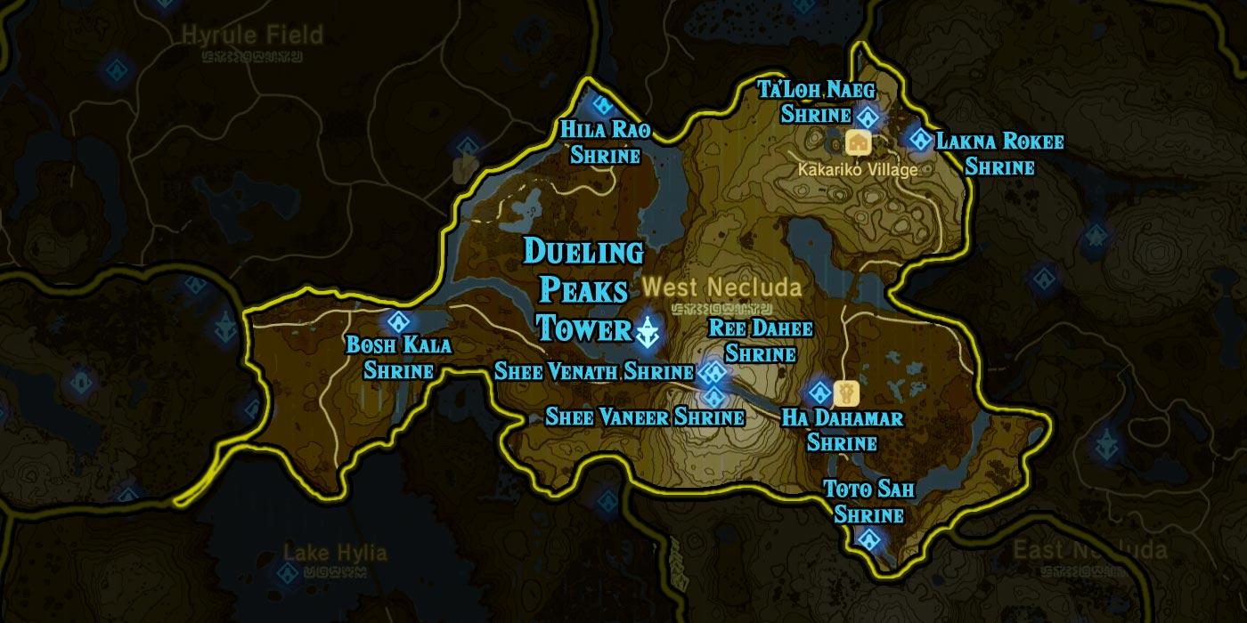 Dueling Peaks Tower region