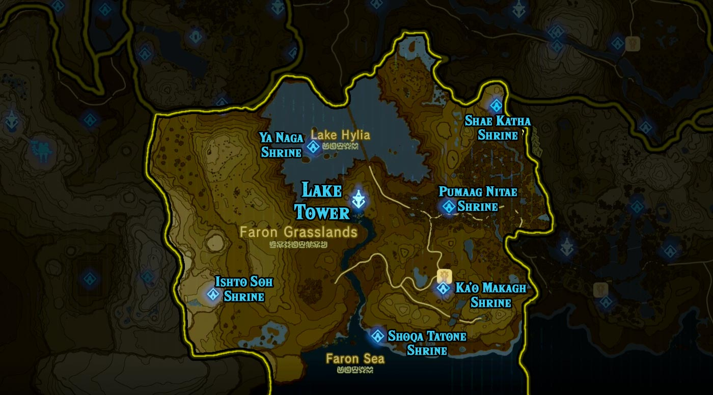 Lake Tower region