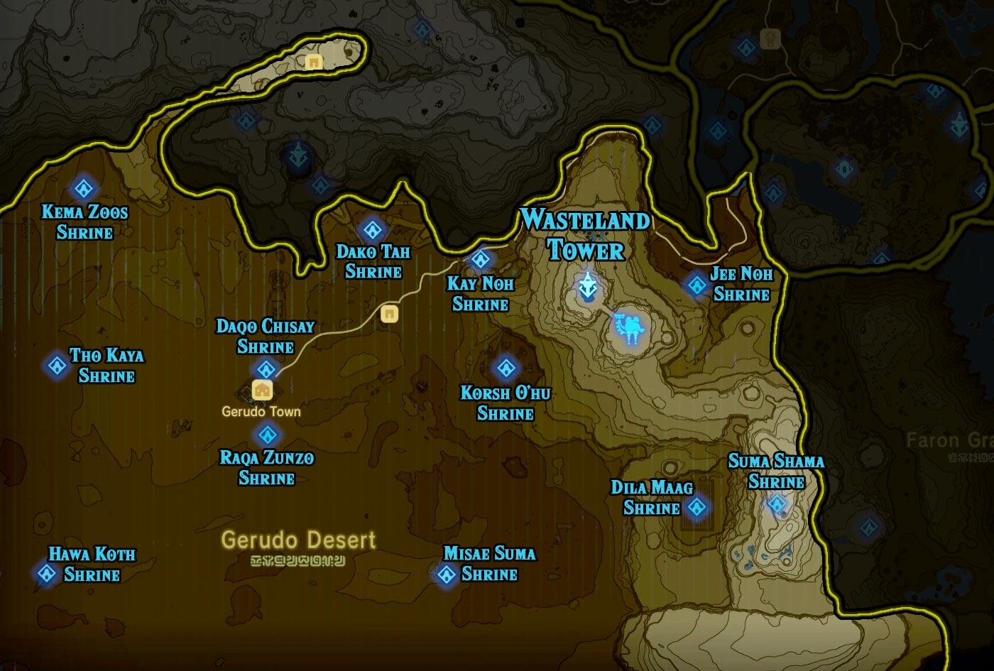 Wasteland Tower region